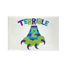 Terrible 2 Monster Rectangle Magnet