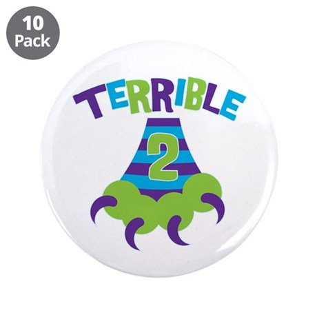 "Terrible 2 Monster 3.5"" Button (10 pack)"