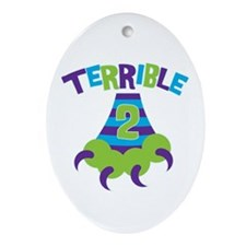 Terrible 2 Monster Ornament (Oval)