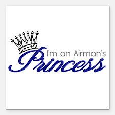 "I'm an Airman's Princess Square Car Magnet 3"" x 3"""