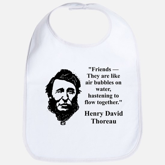 Friends They Are Like Bubbles - Thoreau Baby Bib