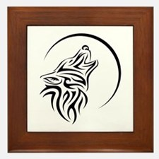 WOLFHOWLING.png Framed Tile