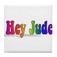 Hey Jude t-shirt front Tile Coaster