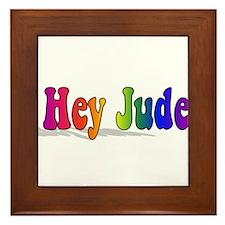 Hey Jude t-shirt front Framed Tile