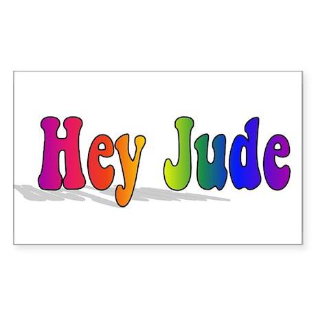 Hey Jude t-shirt front Sticker