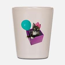 Tuxedo Cat Birthday Shot Glass