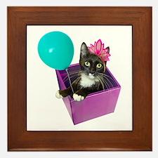 Tuxedo Cat Birthday Framed Tile