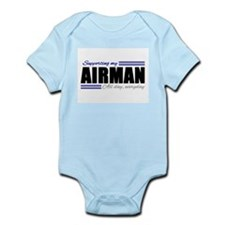 Supporting my Airman, All day, Everyday! Body Suit