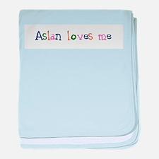 Aslan Loves Me, children's design baby blanket