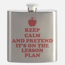 Keep Calm Teachers Flask