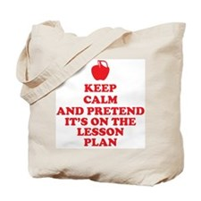 Keep Calm Teachers Tote Bag
