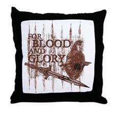 For Blood and Glory Throw Pillow