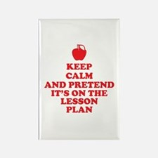 Keep Calm Teachers Rectangle Magnet
