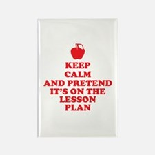 Keep Calm Teachers Rectangle Magnet