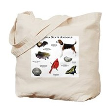 Virginia State Animals Tote Bag