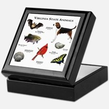 Virginia State Animals Keepsake Box