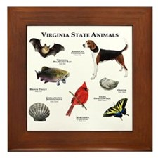 Virginia State Animals Framed Tile