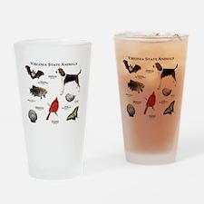 Virginia State Animals Drinking Glass