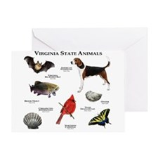 Virginia State Animals Greeting Card