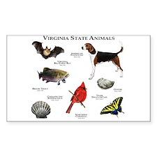 Virginia State Animals Decal
