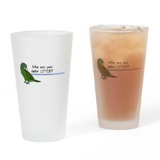 Cute Parrot Drinking Glass