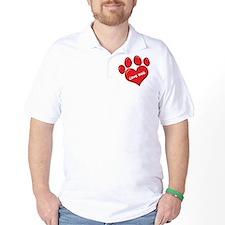 Love Dog Paw Print T-Shirt