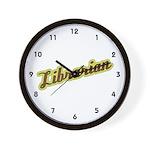 Librarian (Script) Wall Clock