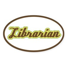 Librarian (Script) Oval Decal