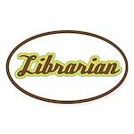 Librarian (Script) Oval Sticker