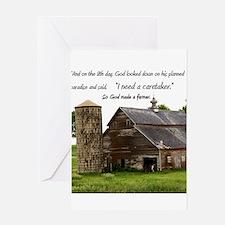 God Made a Farmer Greeting Card