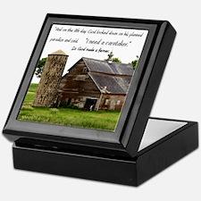 God Made a Farmer Keepsake Box