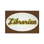 Librarian (Script) Rectangle Magnet (10 pack)