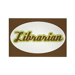 Librarian (Script) Rectangle Magnet