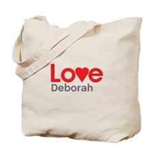 I Love Deborah Tote Bag