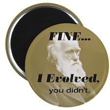 """CHARLES DARWIN """"I Evolved"""" Magnet"""