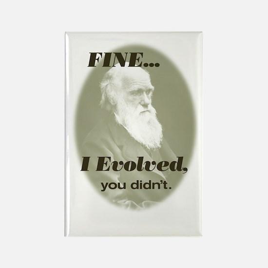 "CHARLES DARWIN ""I Evolved"" Rectangle Magnet"