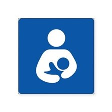 Universal Breastfeeding Symbol Sticker (Rectangula