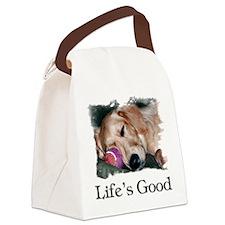 Lifes Good Canvas Lunch Bag