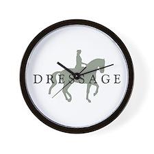 Piaffe w/ Dressage Text Wall Clock