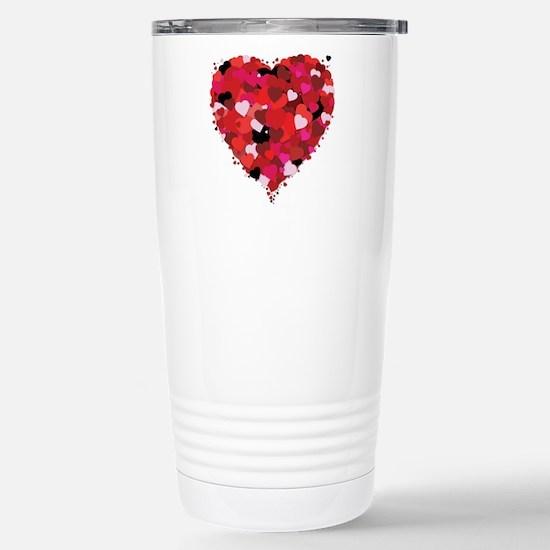 Lots Of Love Heart Stainless Steel Travel Mug