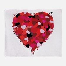 Lots Of Love Heart Throw Blanket