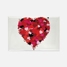 Lots Of Love Heart Rectangle Magnet