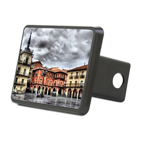 Plaza Mayor of Leon, Spain Hitch Cover