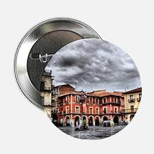 "Plaza Mayor of Leon, Spain 2.25"" Button"