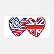 American Flag/Union Jack Flag Hearts Aluminum Lice
