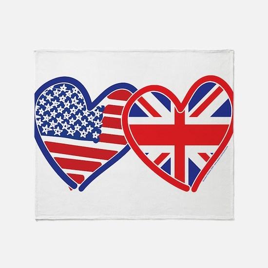 American Flag/Union Jack Flag Hearts Stadium Blan