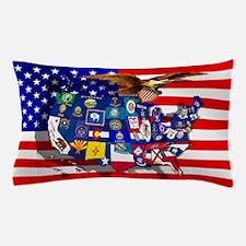 USA States Flag Pillow Case