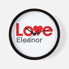 I Love Eleanor Wall Clock