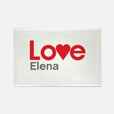 I Love Elena Rectangle Magnet
