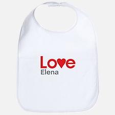 I Love Elena Bib